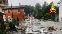 Maltempo, a Teglio Veneto alberi caduti e danni alle case