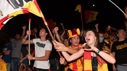 Benevento in Serie A, le immagini della festa in città