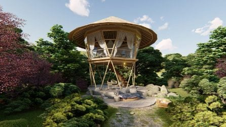 Glamping Tower Bali, la torre per un campeggio glamour nelle foreste indonesiane