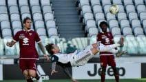 Juventus-Torino 4-1: Cristiano Ronaldo segna su punizione