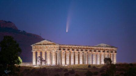 La cometa Neowise sul Tempio di Segesta: spettacolo unico