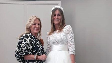 """Sarah Balivo, l'abito da sposa """"doppio"""" della sorella di Caterina"""