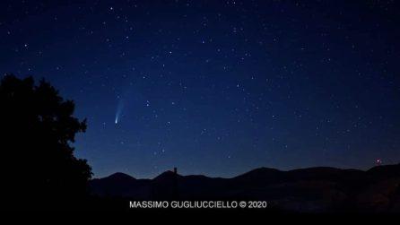 Cometa Neowise e Via Lattea: le spettacolari immagini nella valle del Tanagro