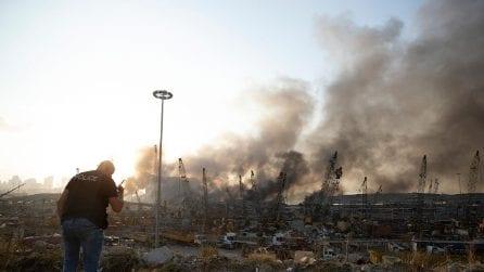 Le immagini della devastazione a Beirut dopo l'esplosione