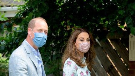 Kate Middleton: la prima volta con la mascherina