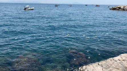 A Nisida il mare limpidissimo diventa una discarica di rifiuti