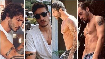Il confronto tra i tatuaggi di Stefano De Martino e Antonino Spinalbese