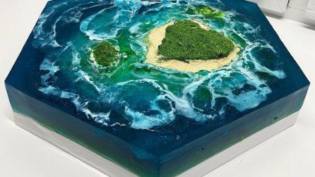 Sembrano fondali marini e isole paradisiache ma sono torte, da non credere ai propri occhi