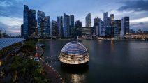 Le prime immagini del nuovo store Apple a Singapore