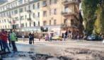 Si rompe tubatura a Torpignattara, acqua in piazza della Marranella