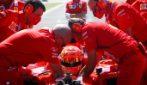 Mick Schumacher sulla Ferrari 2004 di papà Michael al Mugello