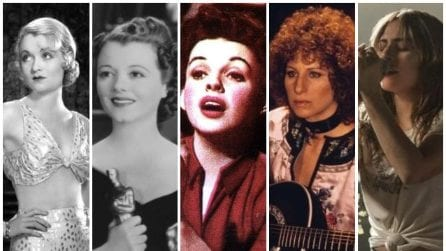 "Tutti i remake di ""A star is born"" dal 1932 al 2018"