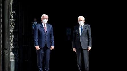 Mattarella a Milano con il presidente tedesco Steinmeier: dal Duomo all'Hangar Bicocca