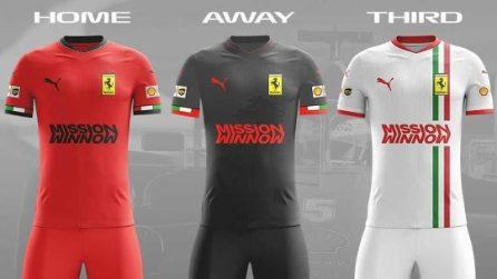 Le divise da calcio delle squadre di Formula 1