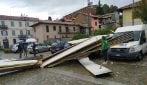 Tromba d'aria a Tradate: scoperchiati i tetti di una chiesa e dell'ospedale