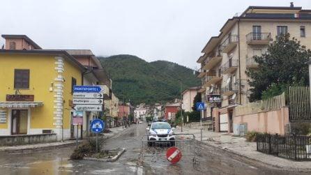 Maltempo, cede la montagna: colata di fango a Monteforte Irpino