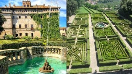 Un fantastico palazzo e il suo giardino che sembra un labirinto: un'altra bellezza tutta italiana