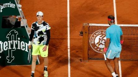 Roland Garros, le immagini di Nadal vs Sinner