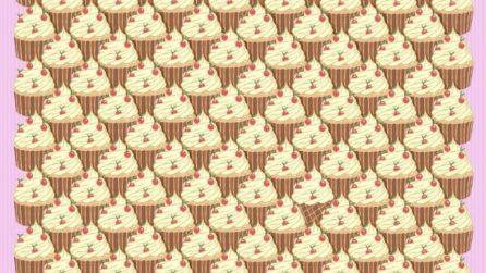 Riesci a trovare i due coni tra le coppette di gelato?