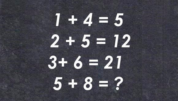 """La soluzione è 45. Seguendo il ragionamento proposto, l'operazione consiste nel moltiplicare, invece che addizionare le due cifre, per poi addizionare il risultato che ne viene, con la prima cifra. Così l'operazione da fare è: """" 8 x 5 = 40 + 5= 45"""