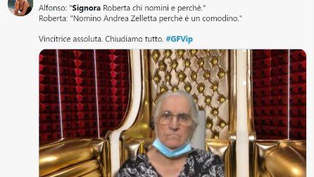 GF Vip, i meme più belli sulla signora Roberta