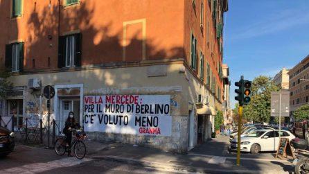 """Striscioni contro il degrado a San Lorenzo: """"Basta proclami elettorali delle giunte"""""""