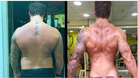 Le foto di Michele Dentice prima e dopo il cambiamento fisico