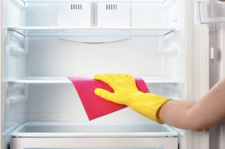 Clean the refrigerator and remove odors.