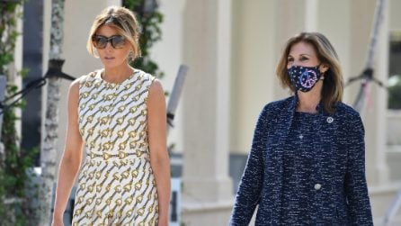 Melania Trump, il look griffato per l'Election Day