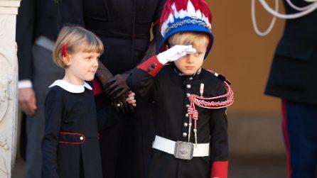 Jacques e Gabriella di Monaco, i look eleganti dei principini per il National Day