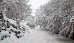 Prima neve sulle vette della Campania: tutto si tinge di bianco