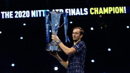 ATP Finals, le immagini della finale Thiem-Medvedev