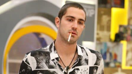 Tommaso Zorzi con i capelli rasati al GF Vip 2020