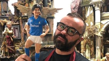 A San Gregorio Armeno spunta l'angelo di Maradona con le ali