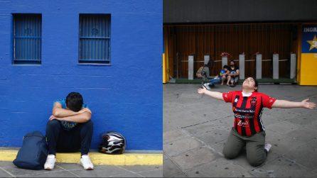 Buenos Aires, gli argentini piangono Diego Armando Maradona