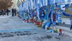 Allo stadio San Paolo lo splendido omaggio a Maradona dei tifosi del Napoli