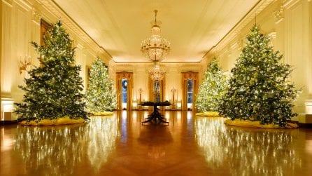 Natale 2020, la Casa Bianca addobbata da Melania Trump