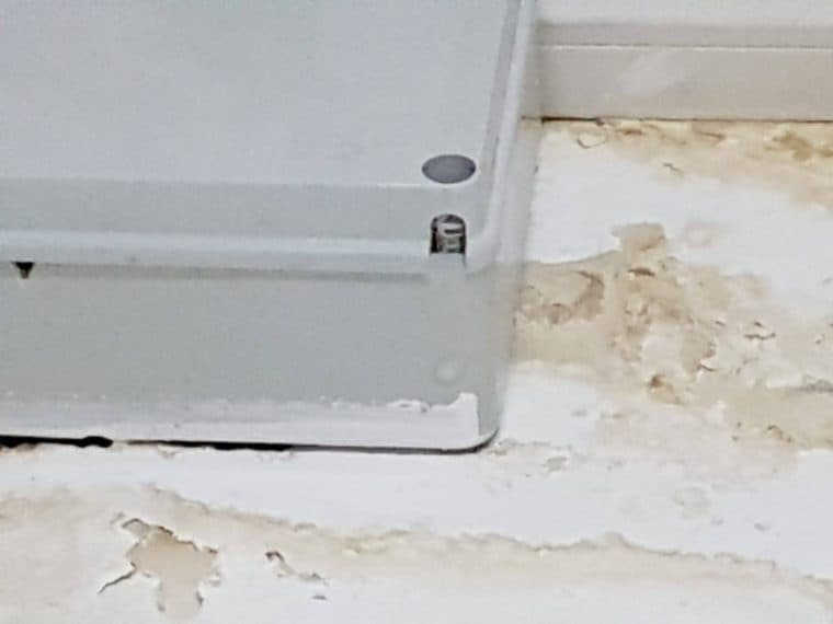Umidità visibile sulle pareti