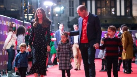 Kate, William e i principini: il primo red carpet di tutta la famiglia reale