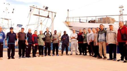 Pescatori liberati in Libia, la gioia dopo mesi di prigionia