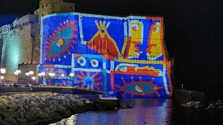 Castel dell'Ovo si illumina con le opere di Franz Cerami