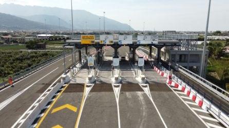 Autostrada A3 Napoli-Salerno, inaugurato il nuovo svincolo di Angri