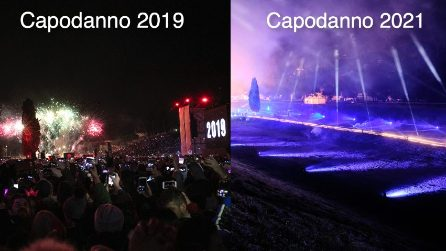Roma, Circo Massimo vuoto per Capodanno: la differenza con quello del 2019