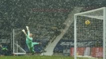 Bufera di neve prima di West Bromwich-Arsenal