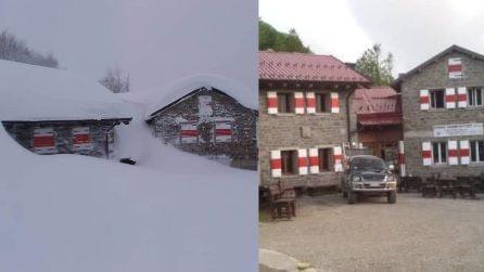 Edifici sepolti dalla neve: situazione critica sull'Appennino