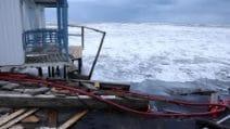 Cabine e stabilimenti distrutti, gli effetti della mareggiata sul litorale di Ostia