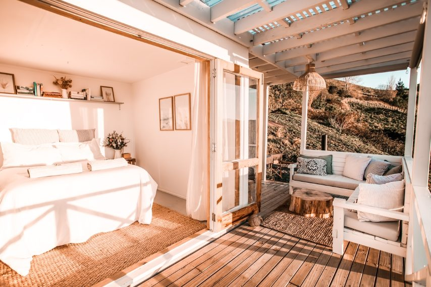 Questa piccola ma splendida cabina sarà una delle prime a scorgere l'alba sull'Oceano Pacifico. A metà strada tra le colline e l'oceano, qui ci si sente completamente immersi nella natura
