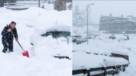 Monte Livata, muri di neve fino a due metri