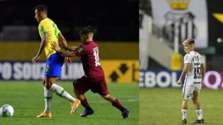 Yeferson Soteldo, più basso di Insigne e Papu Gomez, è in finale di Copa Libertadores con il Santos