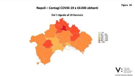 Covid a Napoli, a gennaio 2021 aumentati contagi e morti. La mappa per quartiere